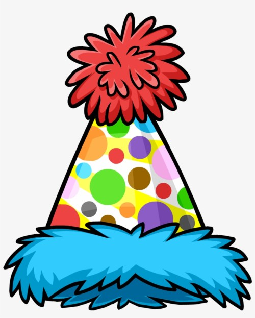 small resolution of polka dot puffle hat birthday hat clipart