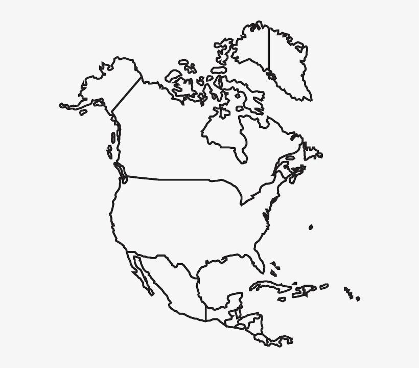 Map, States, Canada, North, United, Usa, America