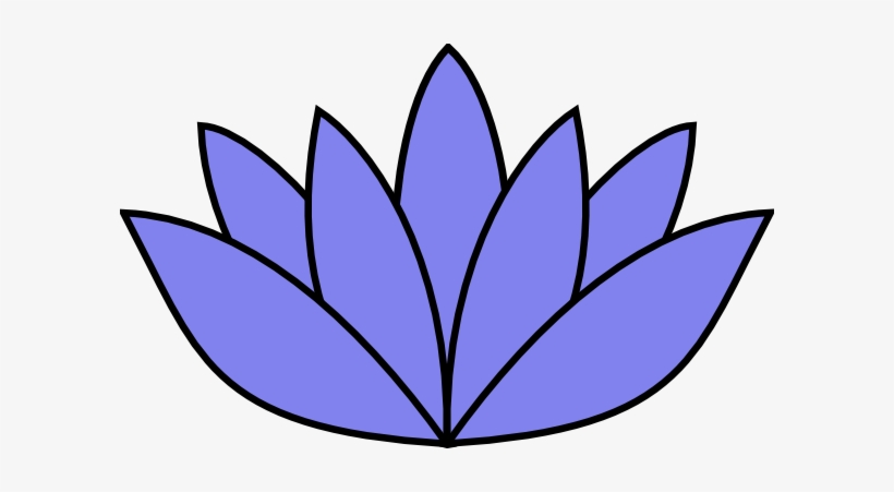Lotus Clipart Light Blue Flower Lotus Clipart Black And White Transparent Png 600x371 Free Download On Nicepng