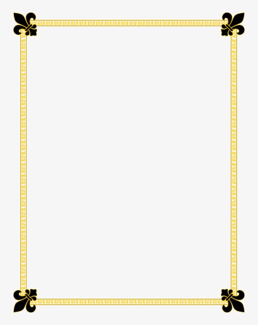 medium resolution of fleur de lis gold and black border free borders and clip art