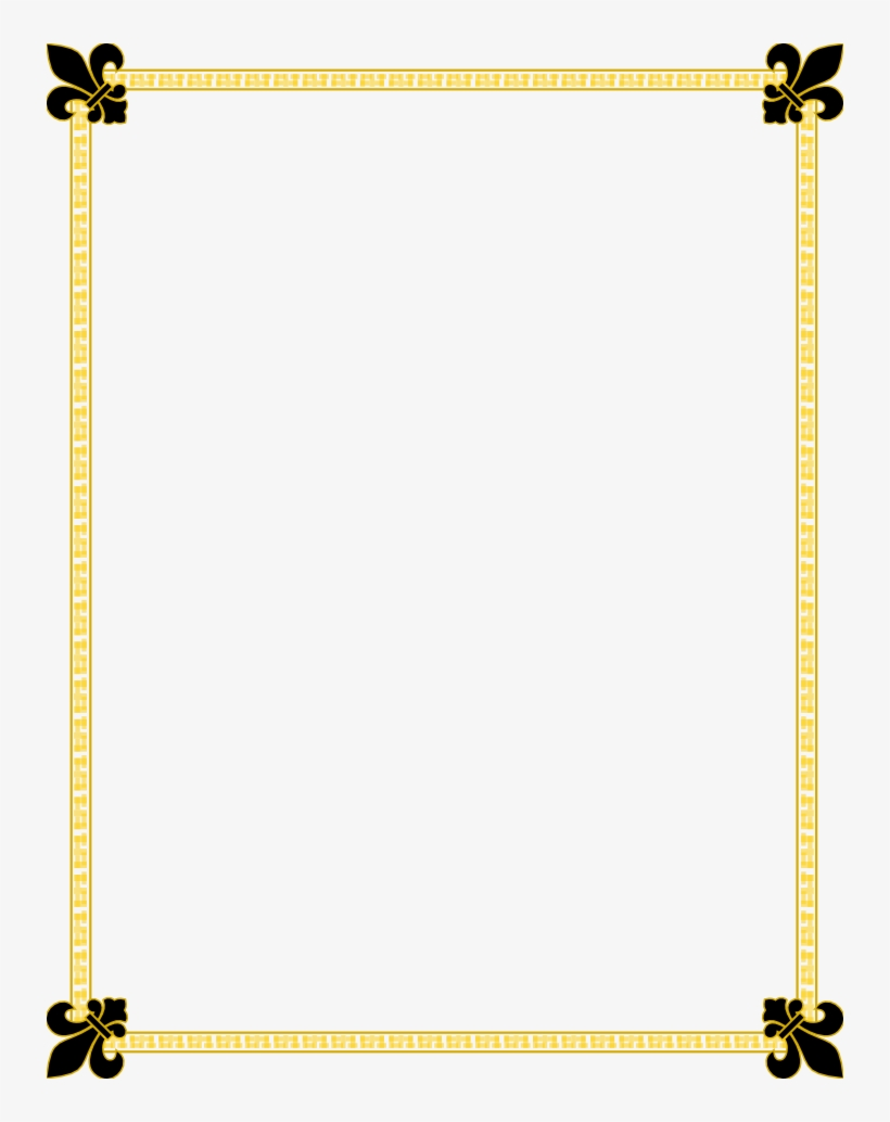 hight resolution of fleur de lis gold and black border free borders and clip art