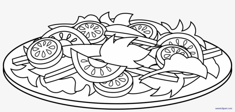 Download Vegetable Salad Coloring Pages Clipart Chef