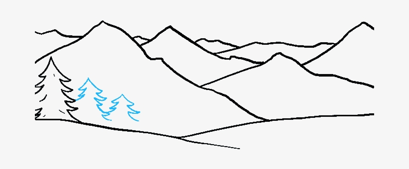 How To Draw Mountains Really Easy Drawing Tutorial