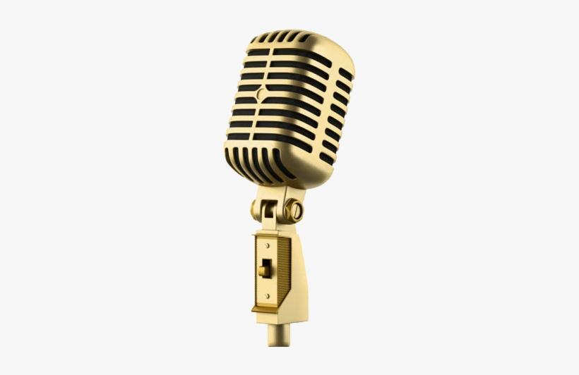 golden microphone png golden