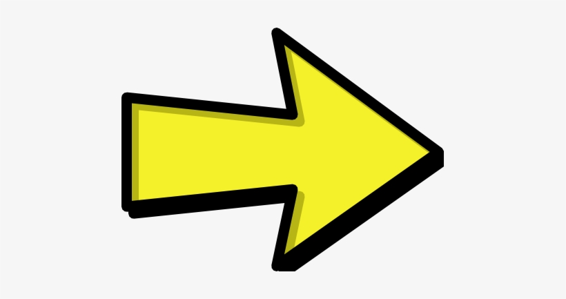 arrow outline yellow right