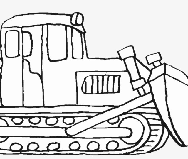 Construction Vehicles Coloring Pages Bulldozer Bulldozer