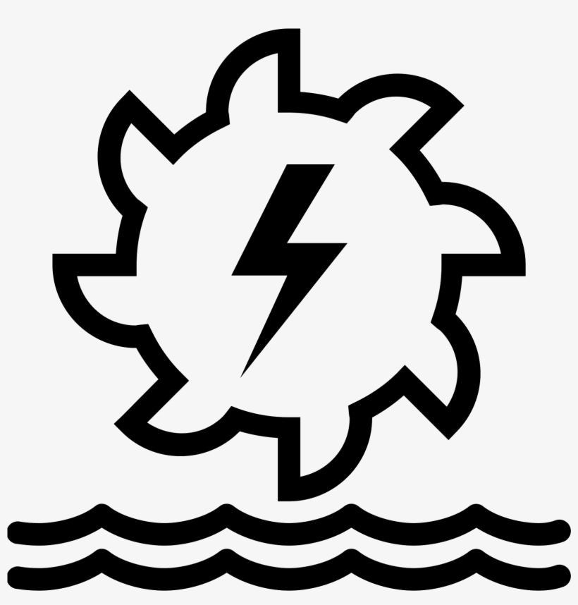 It's A Logo For Hydroelectric Power That Shows A Gear