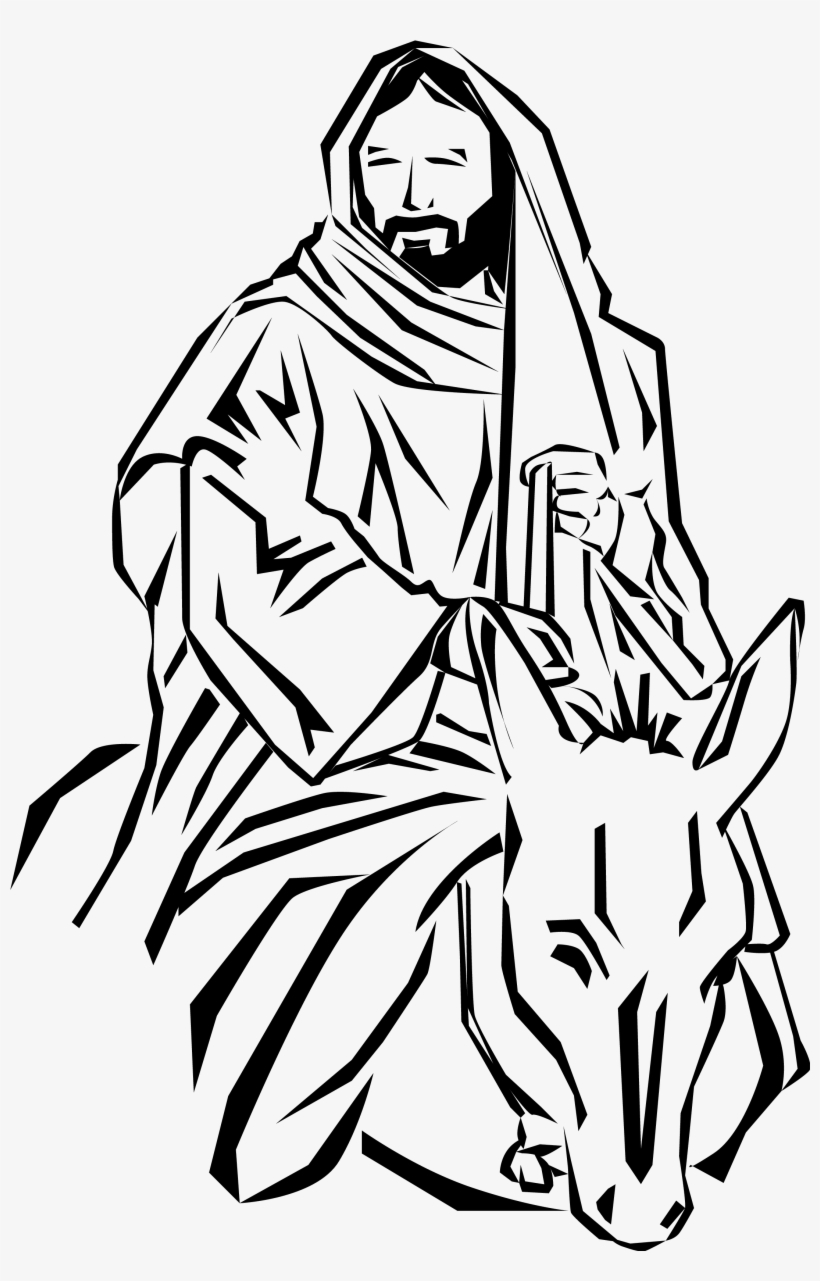 hight resolution of free donkey black and white alternative design jesus on a donkey clipart