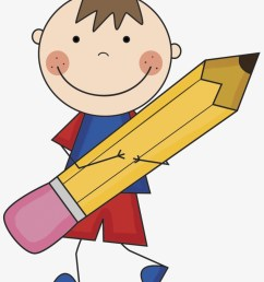 notebook and pencil clipart boy with pencil clipart [ 820 x 1015 Pixel ]