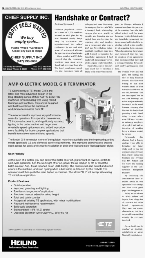small resolution of 10 january february 2018 wiring harness news industrial contract