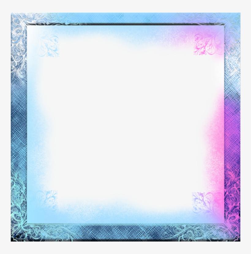 Mq Blue Pink Ice Frame Frames Border Borders Blue Transparent Png 1024x1024 Free Download On Nicepng
