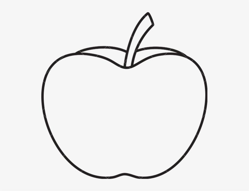 Apple Outline Png Apple Outline Without Leaf Transparent Png 547x550 Free Download On Nicepng