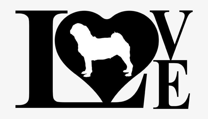 Download Dog Love Pug Decal Sticker - Black And White Dachshund Dog ...