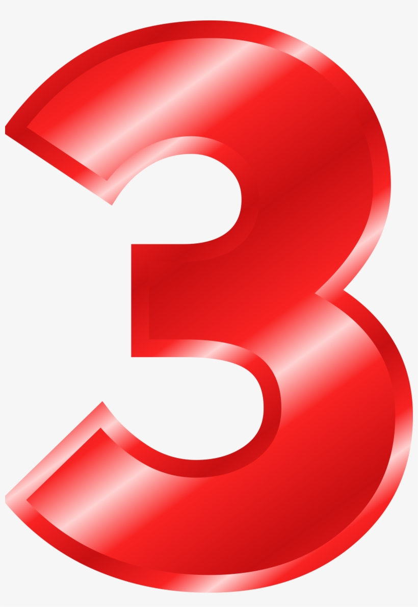 hight resolution of numbers clipart red number 3 color pink