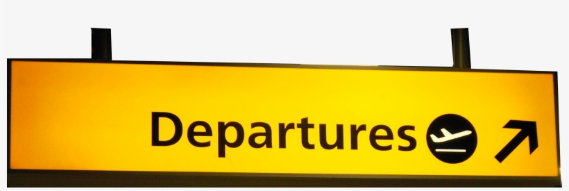 book now departure signs