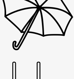 Umbrella Black And White Clipart 1 - U Is For Umbrella Worksheet  Transparent PNG - 1514x2400 - Free Download on NicePNG [ 1344 x 820 Pixel ]