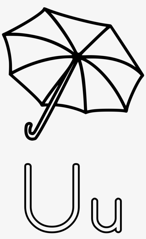 small resolution of Umbrella Black And White Clipart 1 - U Is For Umbrella Worksheet  Transparent PNG - 1514x2400 - Free Download on NicePNG