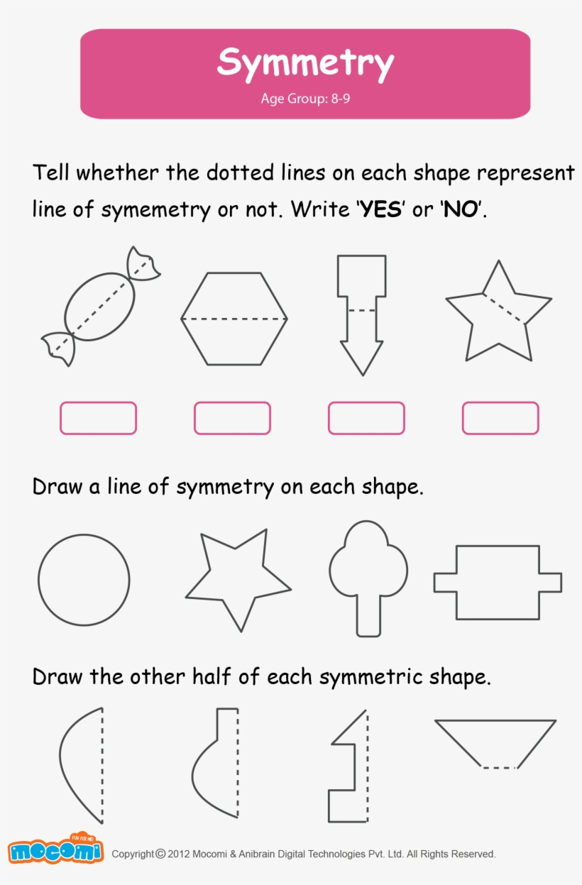 medium resolution of Math Worksheet For Kids - Symmetry Worksheets For Grade 2 Transparent PNG -  1654x2339 - Free Download on NicePNG