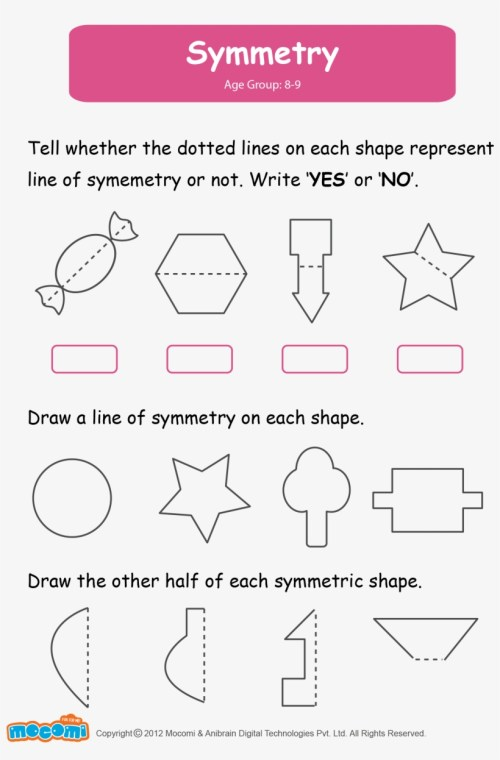 small resolution of Math Worksheet For Kids - Symmetry Worksheets For Grade 2 Transparent PNG -  1654x2339 - Free Download on NicePNG