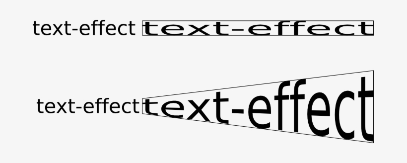 inkscape text effect transform