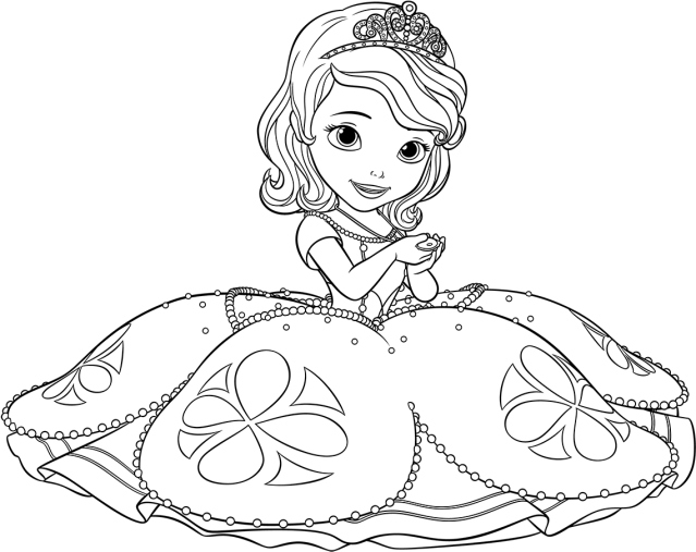 Download HD Princess Sofia Drawing At Getdrawings - Coloriage À