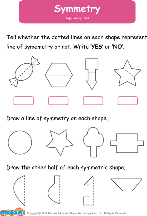 small resolution of Download HD Math Worksheet For Kids - Symmetry Worksheets For Grade 2  Transparent PNG Image - NicePNG.com