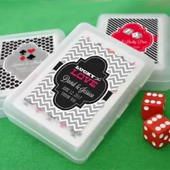 Las Vegas Themed Playing Card Favors  Unique Favors