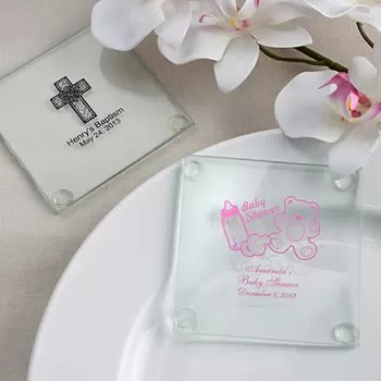 Personalized Baby Shower Design Glass Coasters Nice