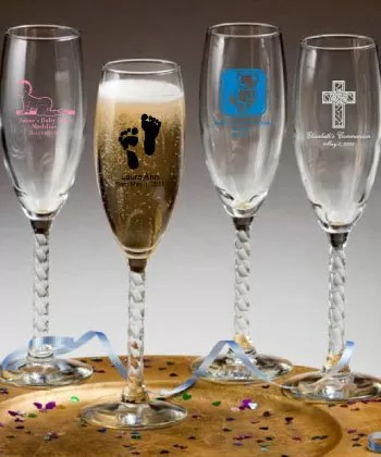 Personalized Champagne Flute Baby Shower Designs  Nice Price Favors