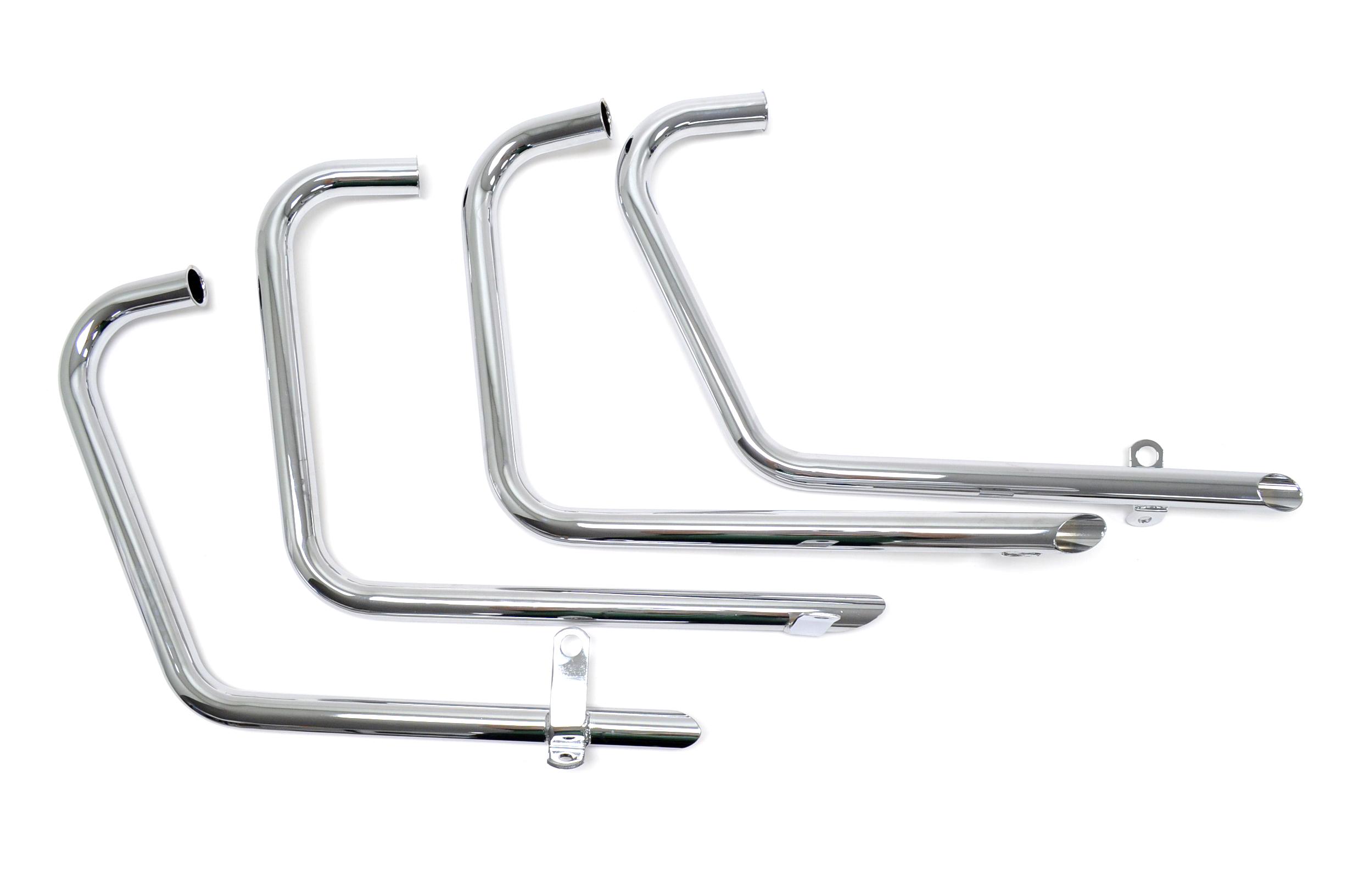 Honda Cb500 4 Cb550 4 4 Drag Tt Pipes Chrome Exhaust