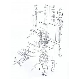 Mikuni TM32 Flat Slide 32mm Carburetor TM32-1 Genuine