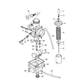 Mikuni VM24 Round Slide 24mm Carburetor VM24-512 Genuine