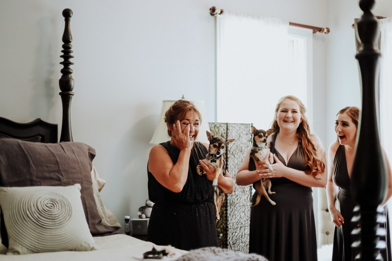 emotional mom on daughters wedding day