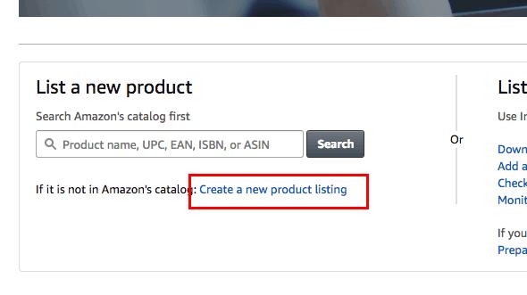 Crea un nuovo prodotto su Amazon