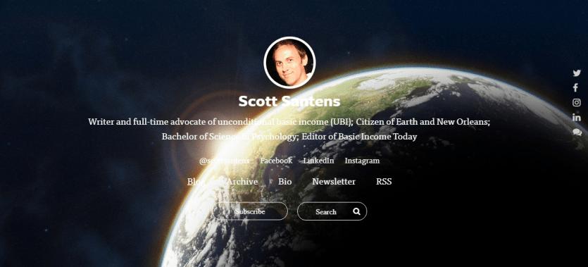 Scott Santens personel web pages