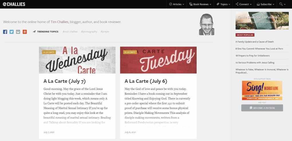 popular christian blogs