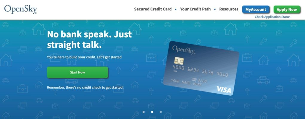 Opensky credit card affiliate program homepage