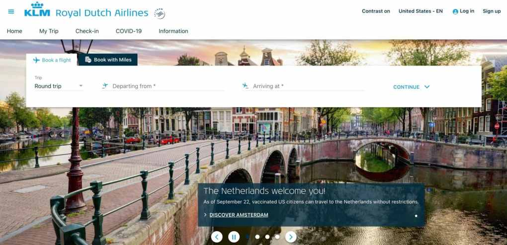 Royal Dutch Airlines affiliate program