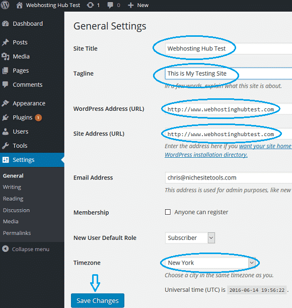 wordpress-general-settings