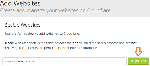 Add Website to Cloudflare