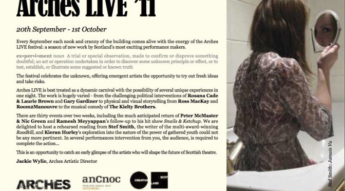 Arches Live brochure