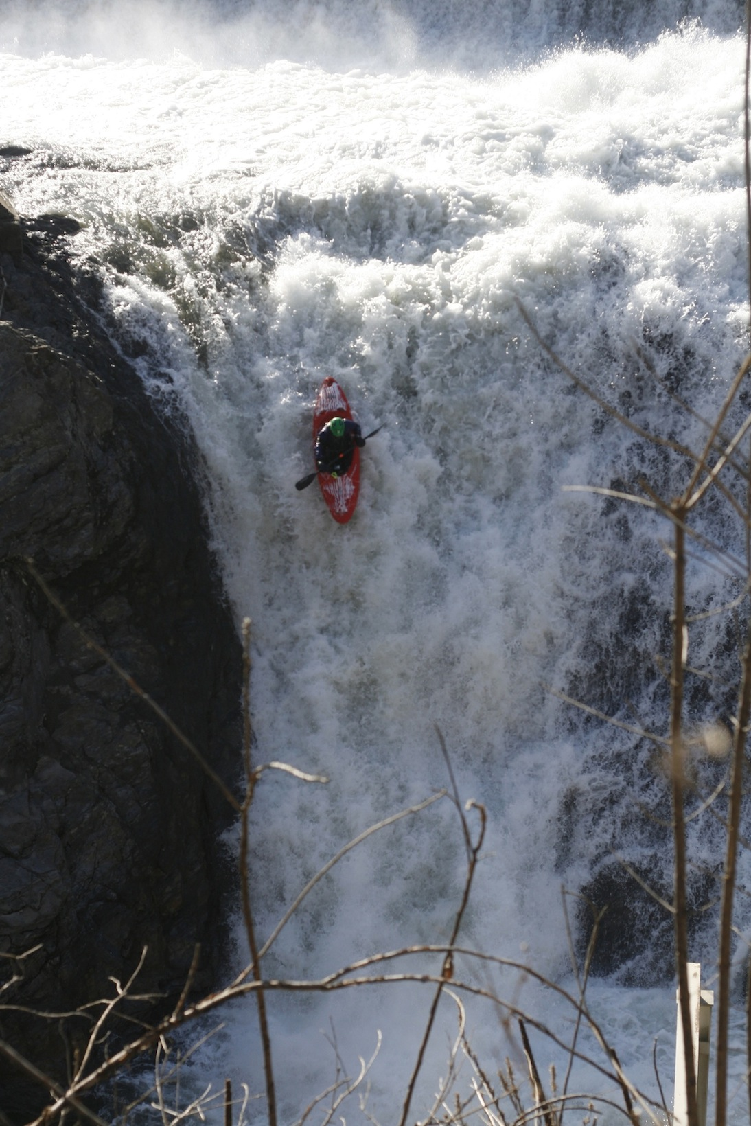 Me on Dewey Mills Falls on the Ottaquechee.