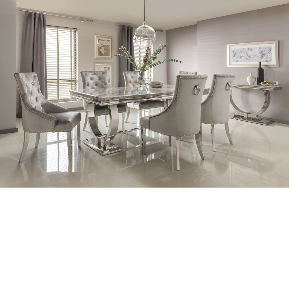 there a table and four chairs in my living room common paint colors for rooms dining tables nicholas john interiors arianna grey marble inc with chrome legs 200cm