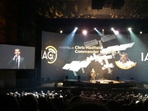Chris Hadfield speaking at IAC 2014 Opening Ceremony