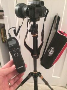 Ranger ball-head tripod and Neewer intervalometer