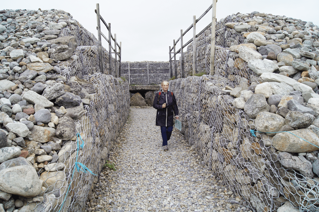 Excavated interior of a large barrow