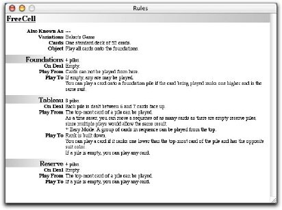 Rules for FreeCell