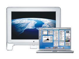 PowerBook G4 with Cinema Display