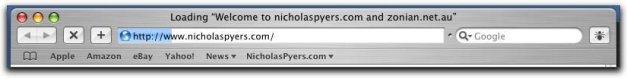 Safari Toolbar while Page Loading