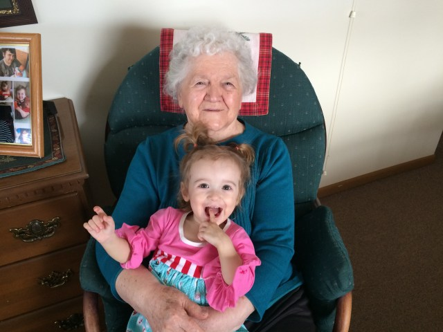 Lunch with Great Grandma Plaster